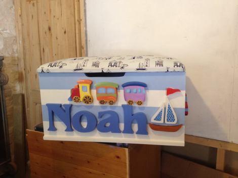 Noah with Train