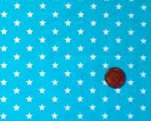 Turquoise blue white stars