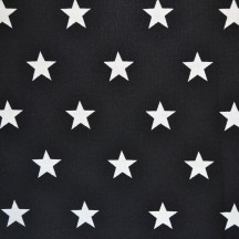 Blakc with white stars