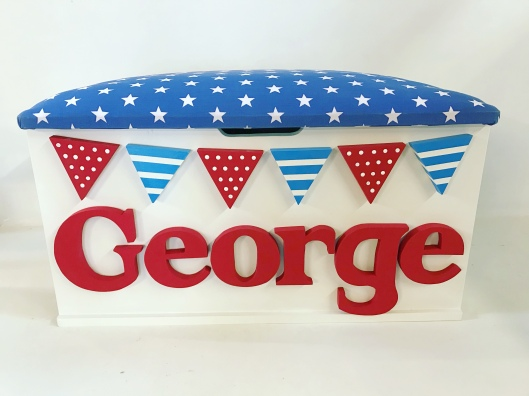 Toy Box-Bunting & Stars-Blue & Red
